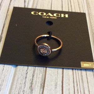 Authentic Coach Pave Rose Gold Size 7 New